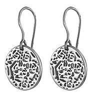 Серебряные серьги без камней кельтский узор