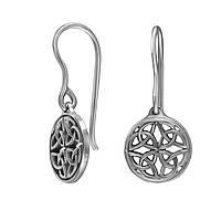 Серьги женские серебряные кельтский узор