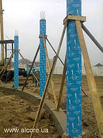 Картонная опалубка Ø600мм*3000мм для железобетонных колонн
