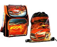 """Ранец школьный,и сумка для сменки """"Гончая машина """" Vombato"""