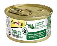 Консервы GimCat Superfood ShinyCat Duo для кошек, с тунцом и цуккини, 70 г