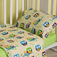 Постельный комплект детского белья SoundSleep Fantastic Owls зеленый