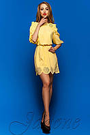 Летнее желтое платье-туника Шатти Jadone Fashion 42-48 размеры