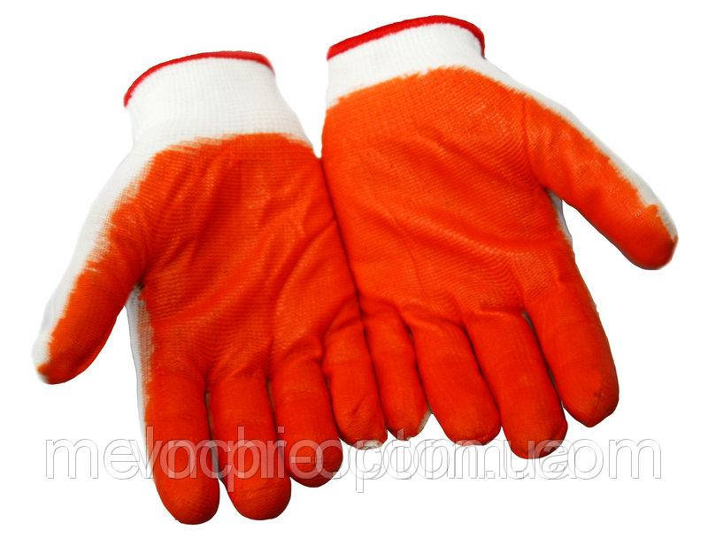 """Рукавички робочі """"Стрейч"""" помаранчеві, господарські, захисні, садові"""