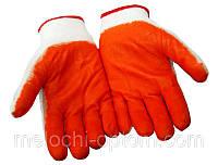 """Рукавички робочі """"Стрейч"""" помаранчеві, господарські, захисні, садові, фото 1"""