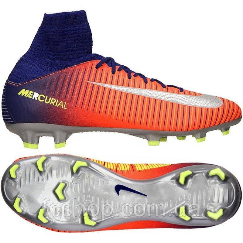 Детские футбольные бутсы Nike JR Mercurial Superfly V FG 831943-409 ... ab0fb28b000