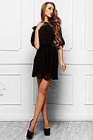 Летнее черное платье-туника Шатти Jadone Fashion 42-48 размеры