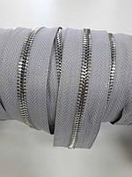 Молния метал. FUTURA рулонная 5мм серый ДЫМЧАТЫЙ/платина