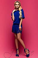 Летнее  платье-туника Шатти электрик Jadone Fashion 42-48 размеры