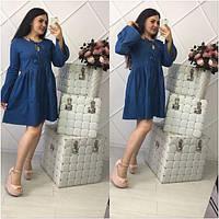 Женское стильное джинсовое платье больших размеров (2 цвета)