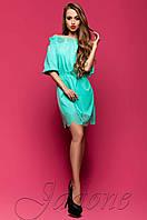 Летнее бирюзовое платье-туника Шатти  Jadone Fashion 42-48 размеры