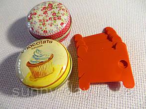 Шпули (бобинки) для намотки-хранения мулине пластиковые оранжевые