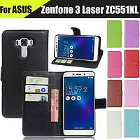Чехол книжка Lichee для Asus Zenfone 3 Laser (ZC551KL) (9 цветов)
