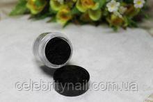 Кашемир для дизайна ногтей,  цвет черный, 5 г