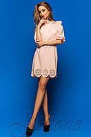 Летнее персиковое платье-туника Шатти  Jadone Fashion 42-48 размеры