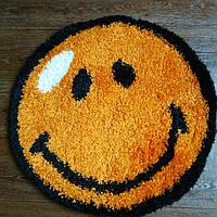 Детский Коврик смайлик оранжевый 0.67х0.67 м.