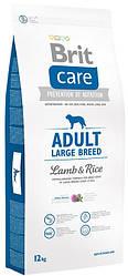 Сухой корм Брит Кеа (Brit Care Large Breed) с рисом и ягненком для взрослых собак крупных пород, 12 кг