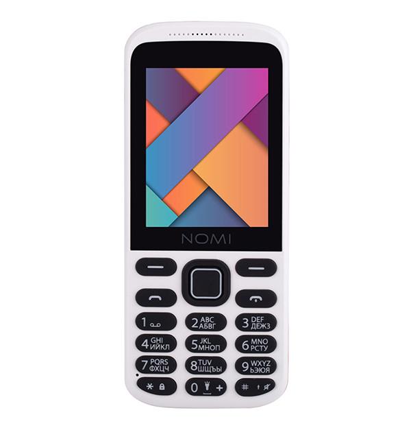 Мобильный телефон Nomi i244 White-Red на 2 сим-карты