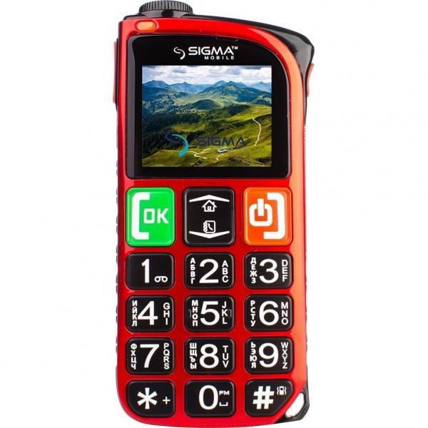 Мобильный телефон Sigma mobile Comfort 50 Light Dual Red 'бабушкофон'