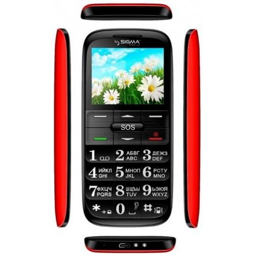 Мобильный телефон Sigma mobile Comfort 50 Slim Black-Red 'бабушкофон'