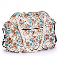 Пляжная сумка Dolly 089 летняя текстильная на канатах разные цвета