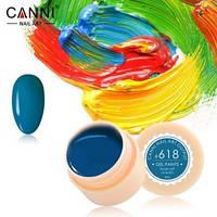 Гель-краска Canni №618 сине-зеленая