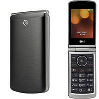"""Телефон-раскладушка LG G360 Titan титан (2SIM) 3"""" 20 МБ+SD 1,3 Мп оригинал Гарантия!"""