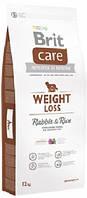 Сухой корм Брит Кеа (Brit Care Weight Loss) с рисом и кроликом для взрослых собак с лишним весом, 12 кг