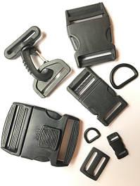 Пластикова фурнітура для сумок, рюкзаків і одягу