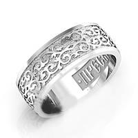 Кольцо серебряное ПРЕСВЯТАЯ БОГОРОДИЦА, СПАСИ МЯ