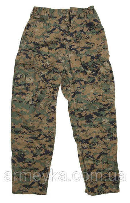 Боевые штаны USMC FROG Digital Woodland Marpat mccuu. USA, оригинал