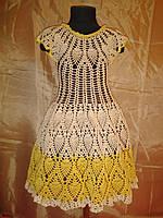 Вязанное летнее платье на девочку
