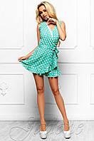 Летний женский бирюзовый комбинезон в горошек Белиз Jadone Fashion 42-46 размеры