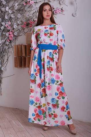 1d4012f4c28 Оригинальное длинное женское платье в пол с цветочным принтом ...