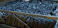 Переугливание  древесного брикета Пини Кей
