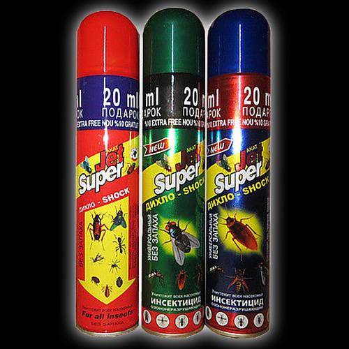 Дихлофос от насекомых Джет Супер Jet Super 220 мл, средство от клопов, насекомых