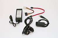 Адаптер SATA/IDE (коробка) с кабелем питания