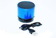 Портативная bluetooth колонка HLD-600 MP3 плеер S-10U Blue, фото 1
