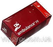 """Перчатки медицинские """"Ambulance"""",размер L, не стерильные, диагностические, смотровые, латексные перчатки"""