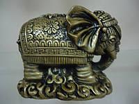 Индийский слон-девочка Статуэтка под бронзу