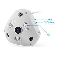 Панорамная камера видеонаблюдения потолочная MicroSD VR360 IPC CAMERA 1317VR WIFI