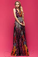 Длинное шифоновое платье Карри комбинированный_8 Jadone Fashion 42-48 размеры