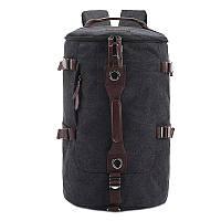 Стильный городской рюкзак-сумка темно-серый