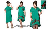 Летнее платье с вышивкой в расцветках БАТ 023 (415)