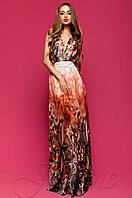 Женское летнее шифоновое платье в пол Карри комбинированный_3 Jadone Fashion 42-48 размеры