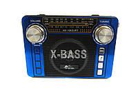Радиоприемник колонка MP3 USB HS-1062URT Blue