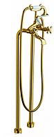 Смеситель напольный для ванны LaTorre Leonardo 23029 Золото