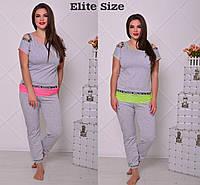 Летний спортивный костюм Elite Size, ботал  0023-22