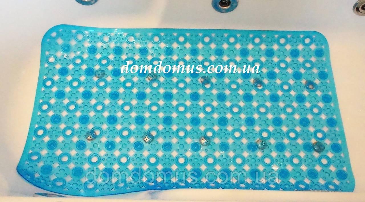 Коврик для ванной антискользящий, массажный на присосках  75*45 см