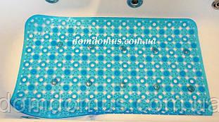 Антиковзаючий килимок для ванної, масажний на присосках 75*45 см